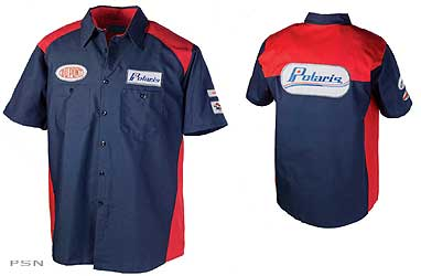 Vintage logo mechanic 39 s shirt from pure polaris snowmobile for Mechanic shirts with logo