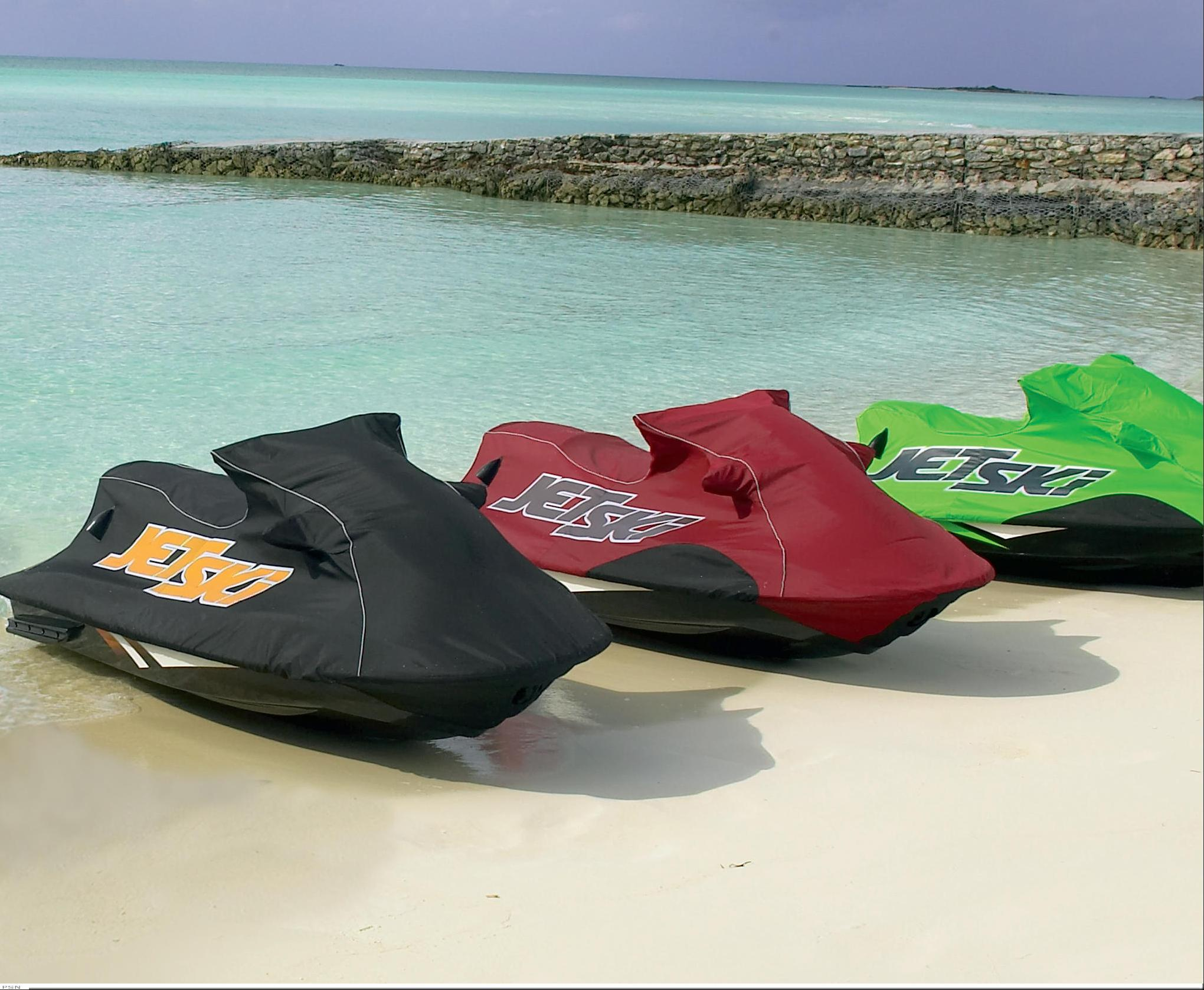 vacu-hold jet ski covers from kawasaki full-line accessories 2007