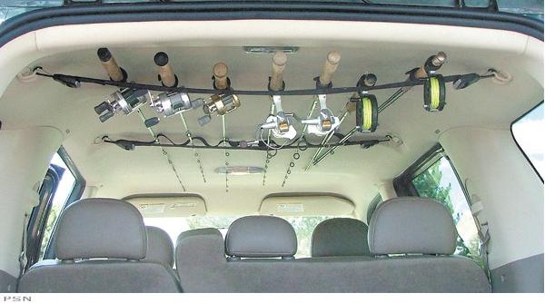 Fishing rod holder suv roof rack car interior design for Fishing rod roof rack