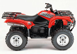 Vehicle reviews for 2002 yamaha grizzly 660 for Yamaha four wheeler dealers